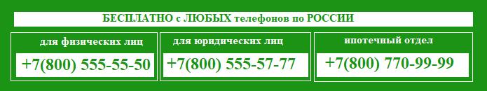 бесплатно позвонить на горячую линию сбербанка